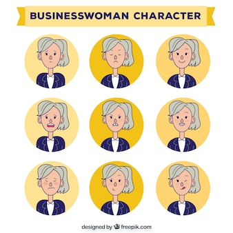 Hand drawn business women characters