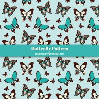Hand drawn butterflies pattern