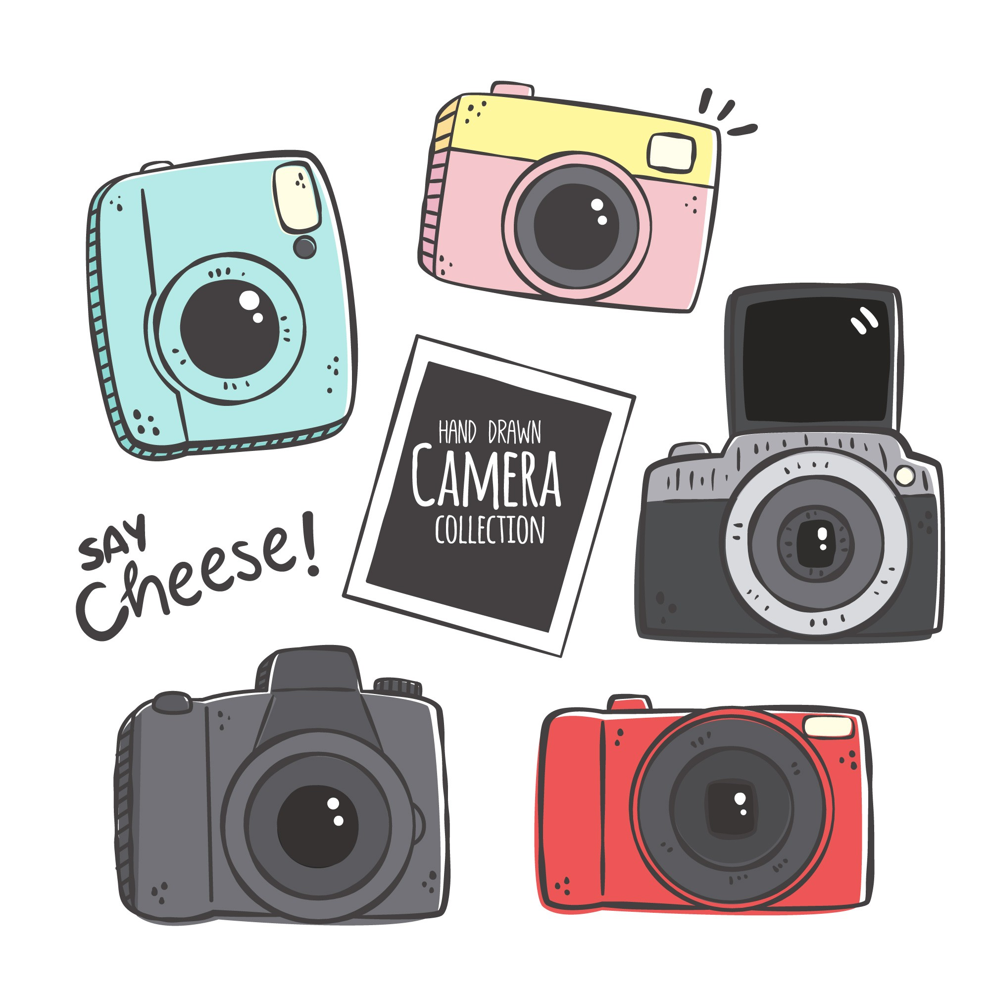 Hand drawn camera collection