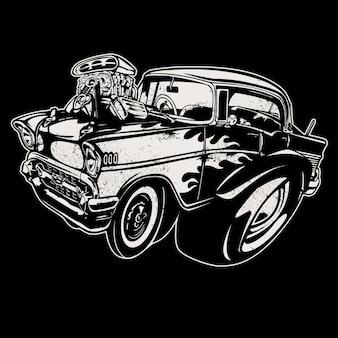 手描きの車の背景