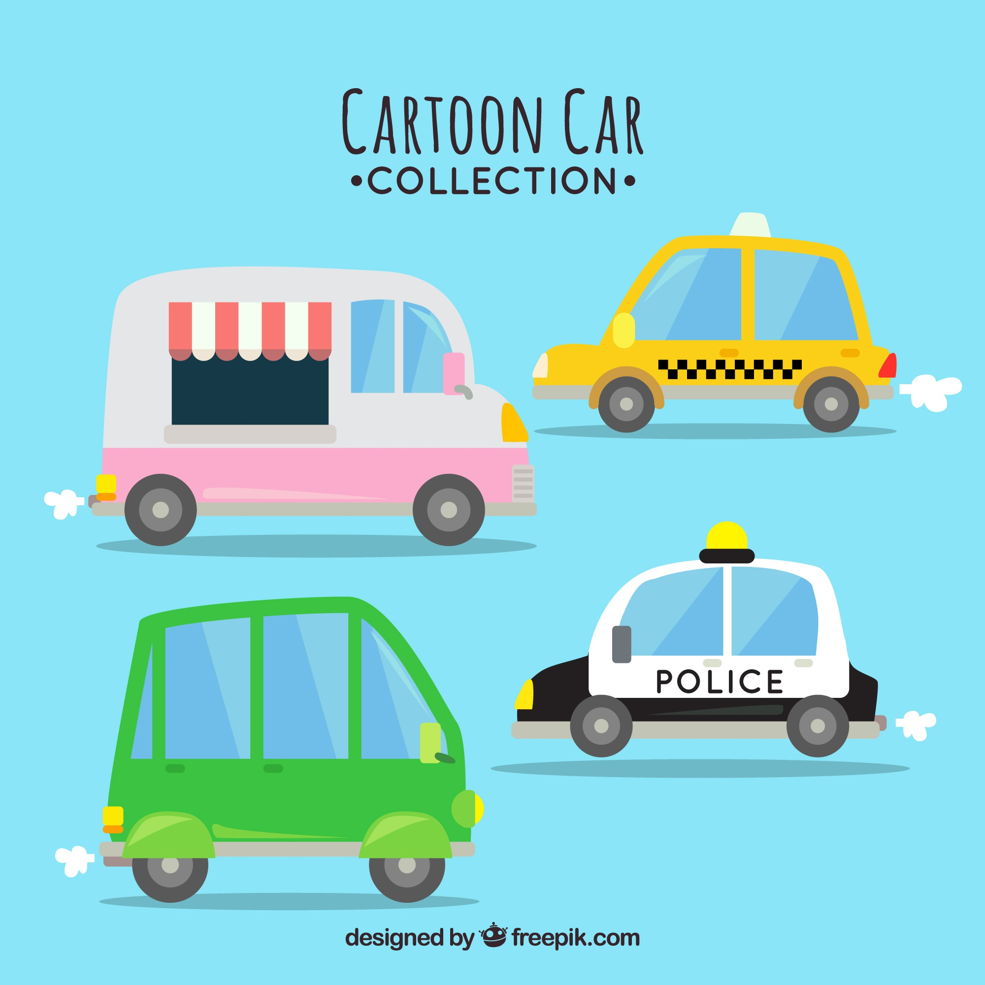 Hand drawn cars with lovely style