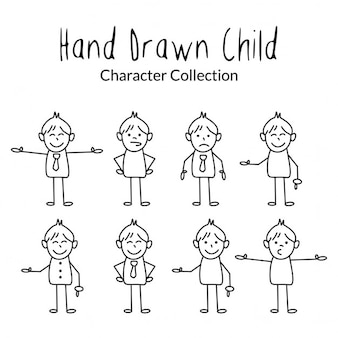 Hand drawn cartoon characters