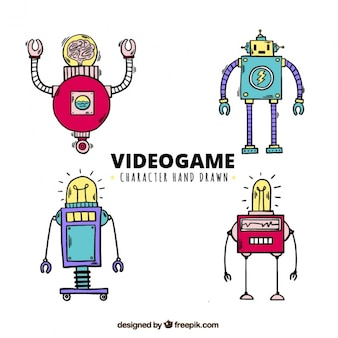 Hand-drawn characters for video games