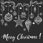 Hand drawn Christmas Background