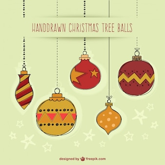 Hand Drawn Christmas Baubles Collection