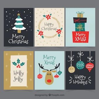 Hand drawn christmas cards
