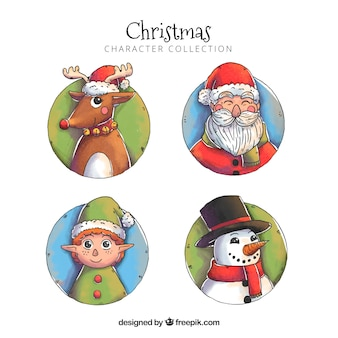 Hand drawn christmas characters