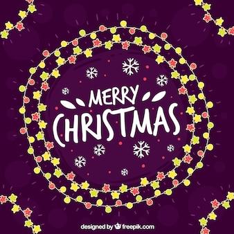 Hand drawn christmas lights