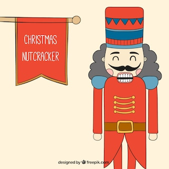 Hand drawn christmas nutcracker