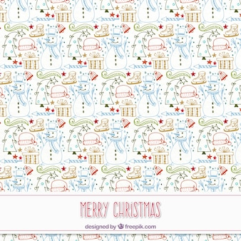 Hand drawn christmas pattern with nice design