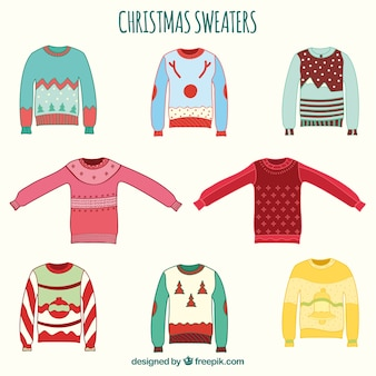 Hand drawn christmas sweaters