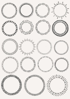 Hand drawn circles collection