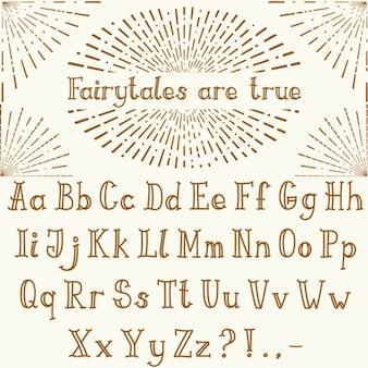 Hand drawn classic alphabet