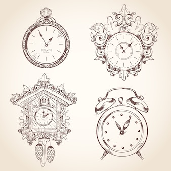 Hand drawn clocks collection