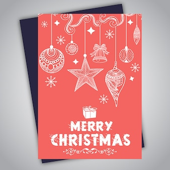 Hand Drawn colorful christmas brochure