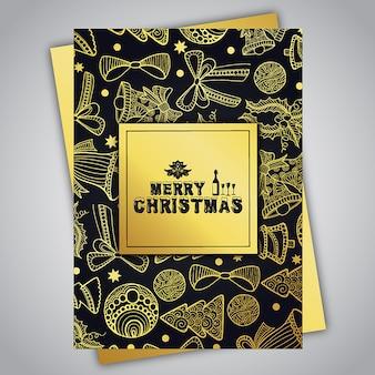 手描きのカラフルなクリスマスのパンフレット
