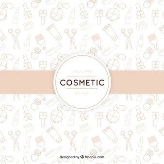 Hand drawn cosmetics background