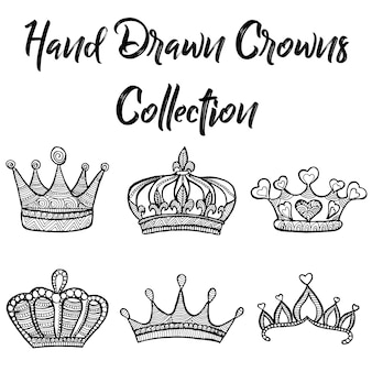 Hand drawn crowns collection
