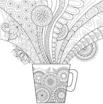 Hand drawn cup background