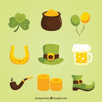 Hand drawn cute elements for ST. Patrick's day