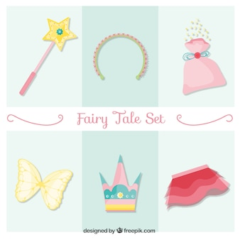 Hand drawn cute fairy tale accessories