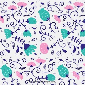 Hand drawn cute floral pattern