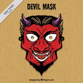 Hand drawn devil mask