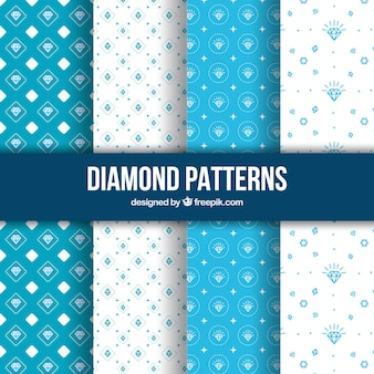 Hand drawn diamond patterns