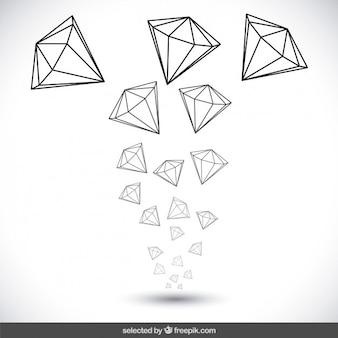 Hand drawn diamonds