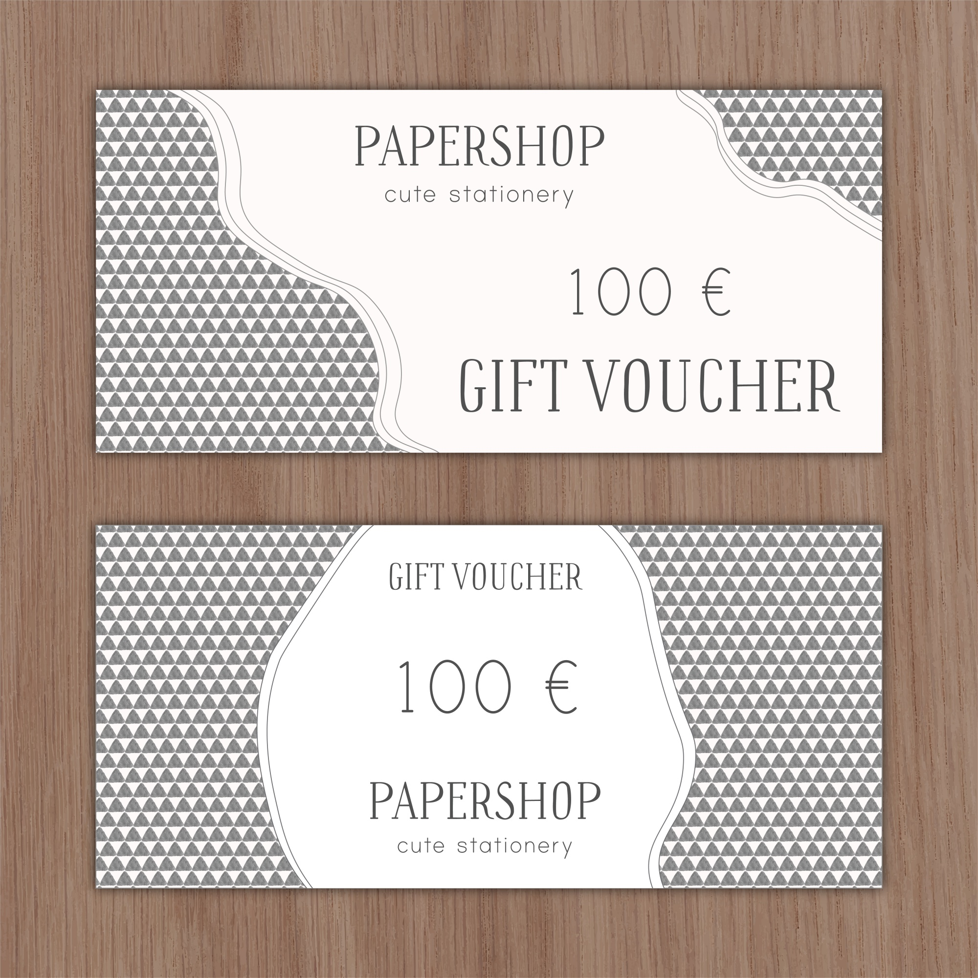 Hand drawn discount voucher with geometric shapes