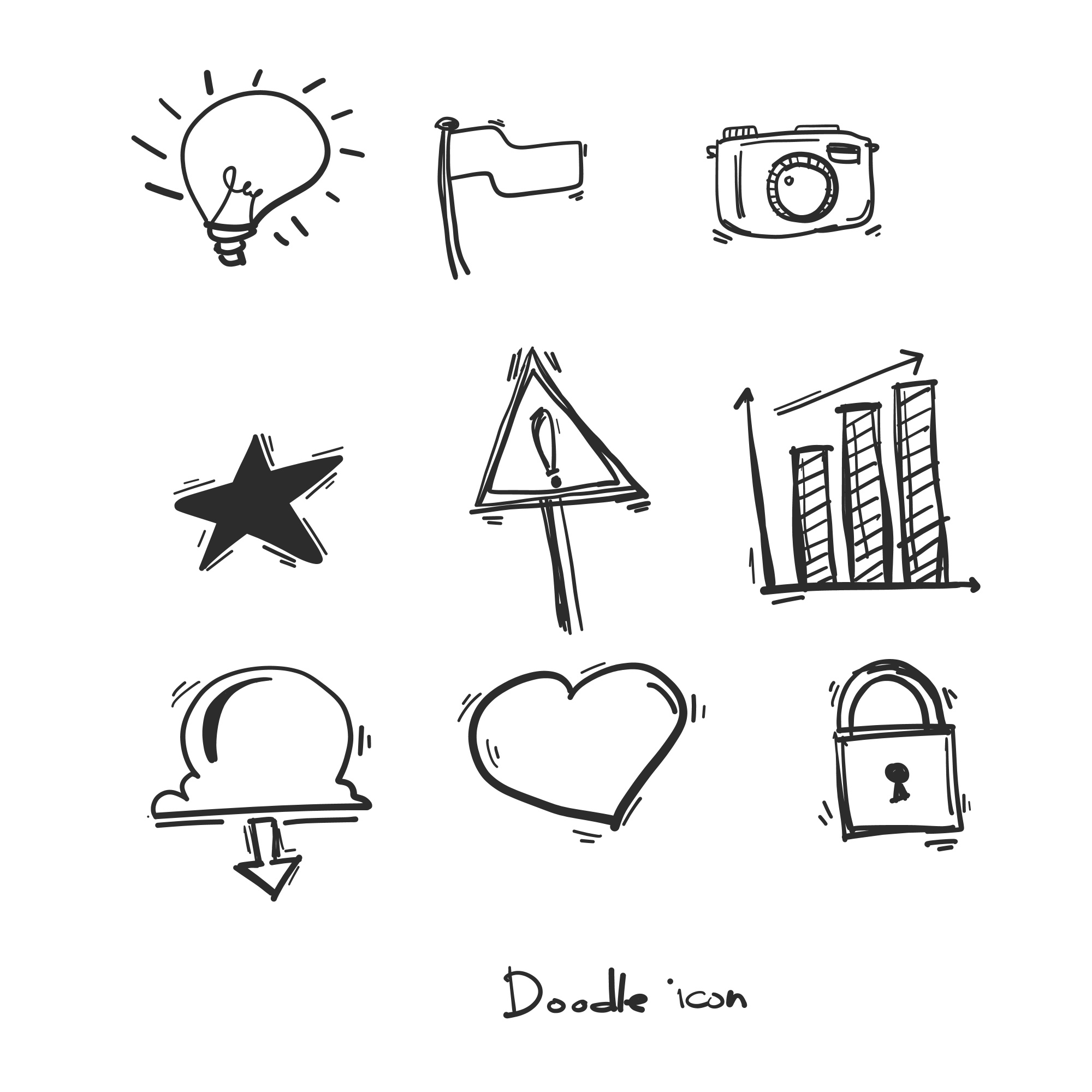Hand drawn doodle icons