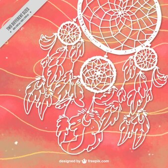 Hand drawn dream catcher abstract background