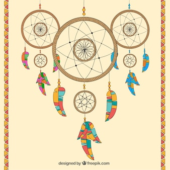 Hand drawn dreamcatchers