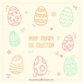 Hand drawn egg collection