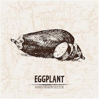 Hand drawn eggplant