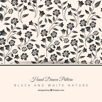 Hand drawn elegant floral pattern