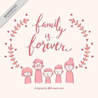 Hand drawn family background