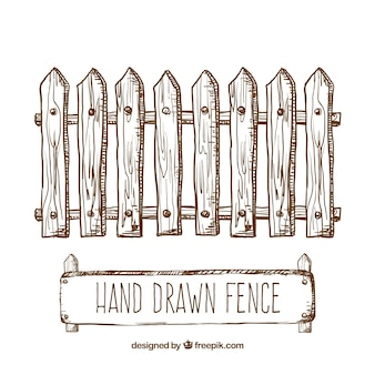 Hand drawn fence