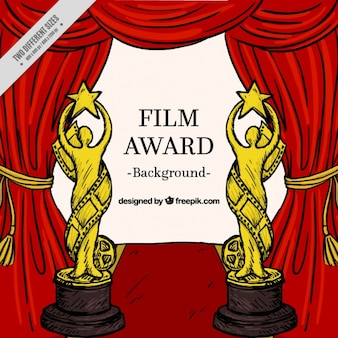 Hand drawn film award background