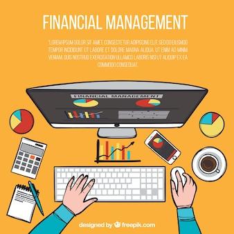 Hand drawn financial magement concept