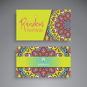 Hand drawn floral business card