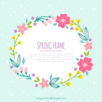 Hand drawn floral frame for springtime
