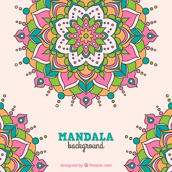 Hand drawn floral mandala background
