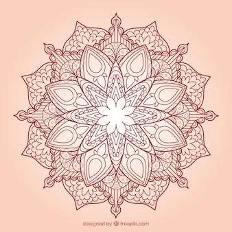 Hand drawn floral mandala