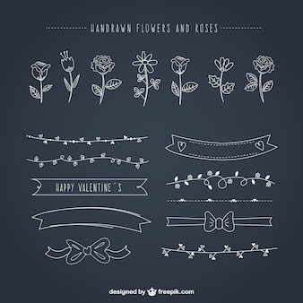 Hand drawn floral ornaments