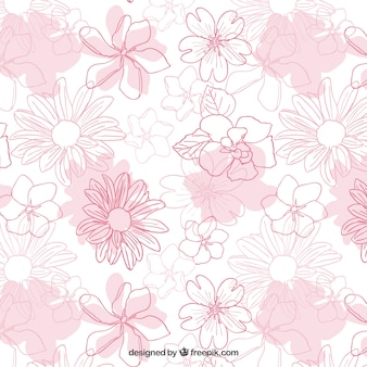 Hand drawn flowers pattern