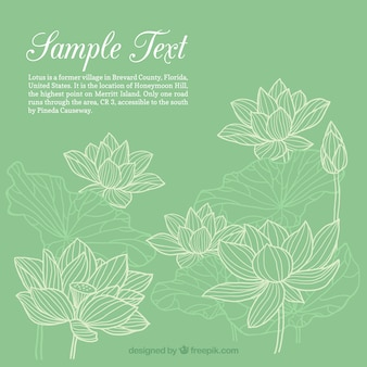 Hand drawn flowers template