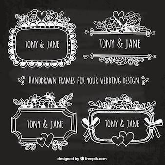 Hand drawn frames for your wedding design