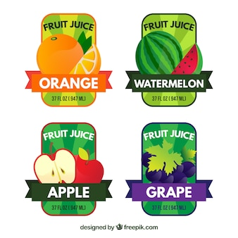Hand drawn fruits stickers