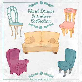 Hand drawn furniture collection